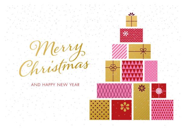 christmas tree with gift boxes. - holiday season stock illustrations