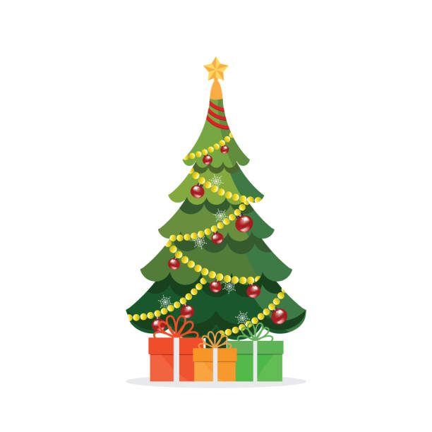 Christmas Illustrations.Best Christmas Tree Illustrations Royalty Free Vector