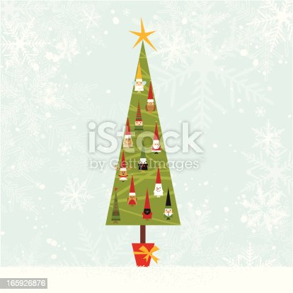 istock Christmas tree with ornament 165926876