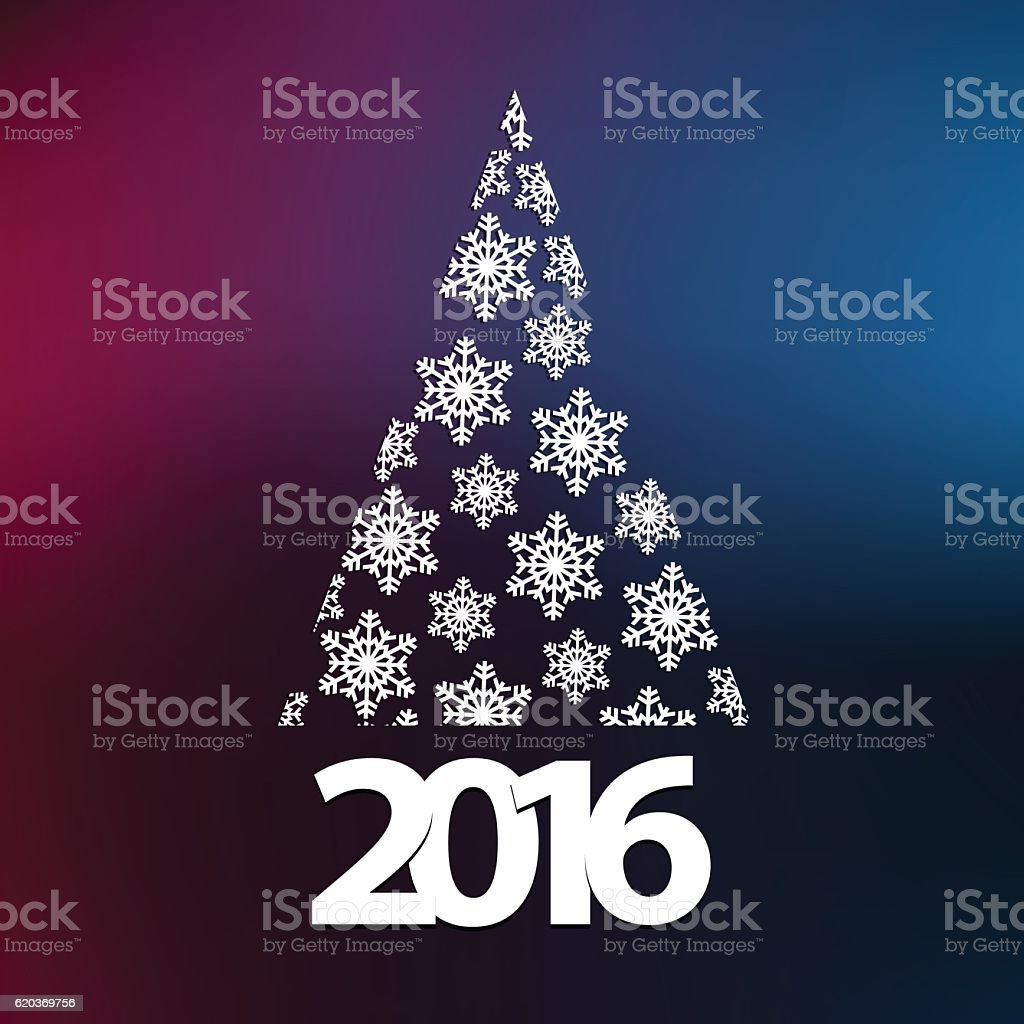 Christmas tree with year 2016 on colored gradient background christmas tree with year 2016 on colored gradient background - stockowe grafiki wektorowe i więcej obrazów 2016 royalty-free
