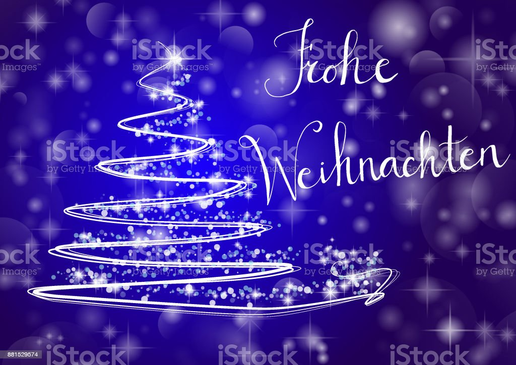 Frohe Weihnachten Download.Christmas Tree Writing Merry Chistmas In German Frohe Weihnachten