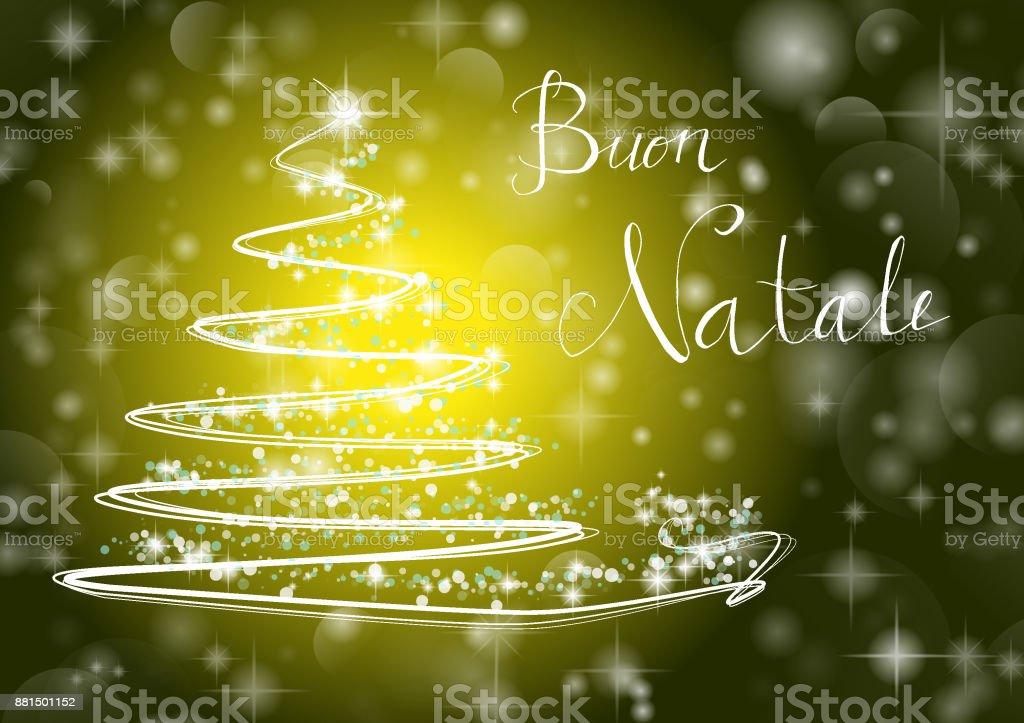 Weihnachtsbaum Frohe Weihnachten Zu Schreiben Auf Italienisch Buon ...