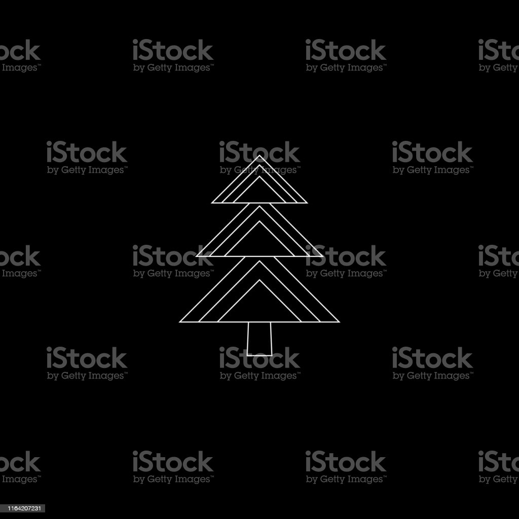 Christmas trees line icon, vector outline simple decoration element....