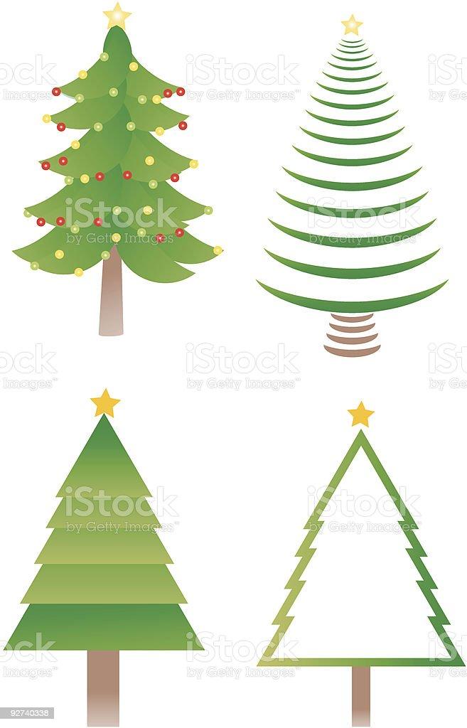 Weihnachten und Bäume, Vektor-icons Lizenzfreies weihnachten und bäume vektoricons stock vektor art und mehr bilder von baum