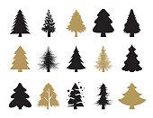 Vector set of the christmas trees set