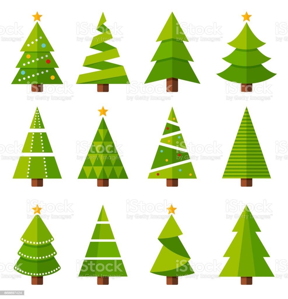 Weihnachtsbäume - Lizenzfrei Baum Vektorgrafik