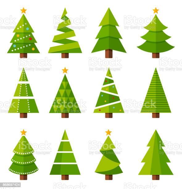 Weihnachtsbäume Stock Vektor Art und mehr Bilder von Baum