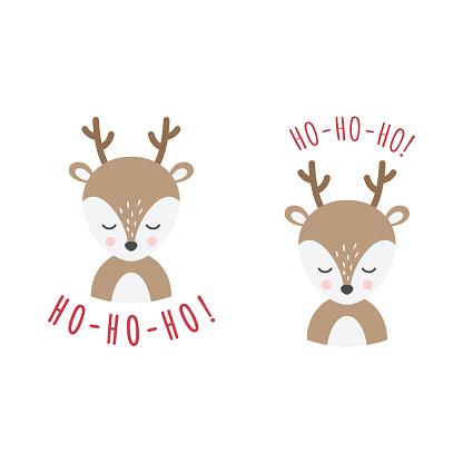 Christmas t-shirt design with reindeer cartoon