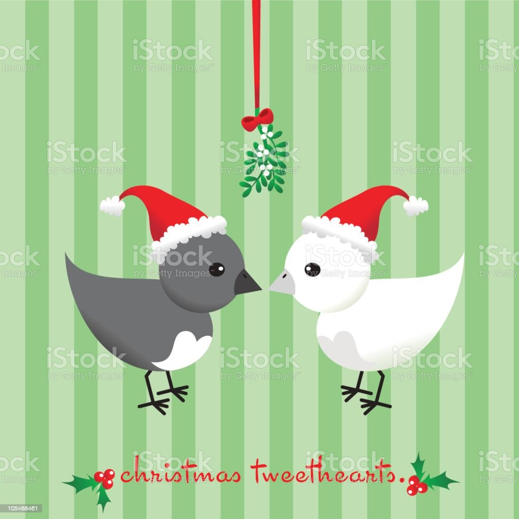 Christmas Tweethearts royalty-free stock vector art
