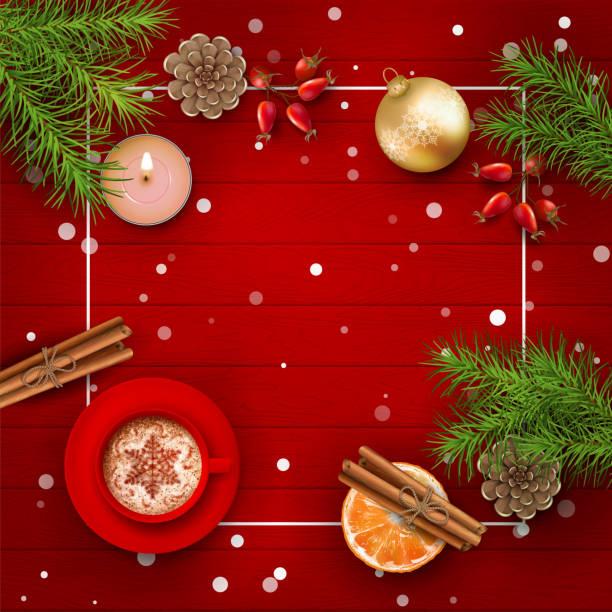 ilustrações de stock, clip art, desenhos animados e ícones de christmas vector background - christmas table