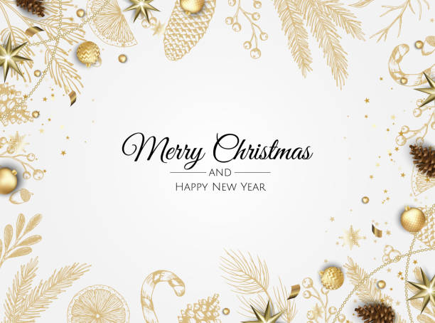 Christmas vector background. Xmas sale, holiday web banner. Christmas vector background. Xmas sale, holiday web banner. Design christmas decorations with christmas balls, ribbon, star, snowflake. christmas backgrounds stock illustrations