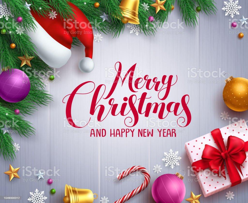 タイポグラフィの挨拶メリー クリスマス クリスマス ベクトル バナーと