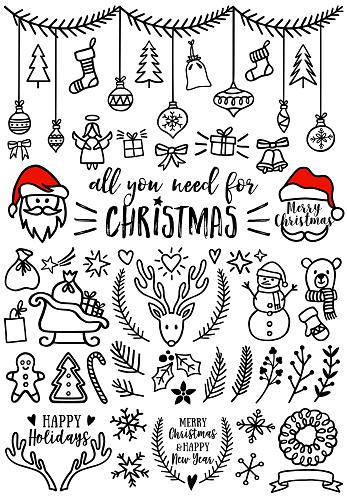 Christmas vector design elements clipart
