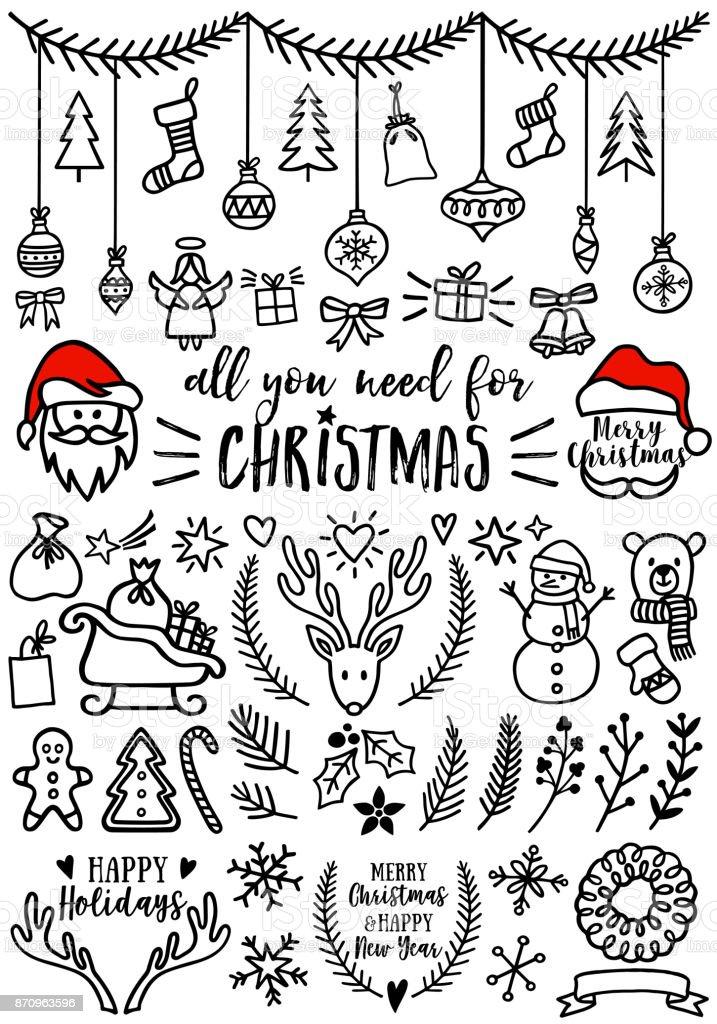 クリスマス ベクトル デザイン要素 ベクターアートイラスト