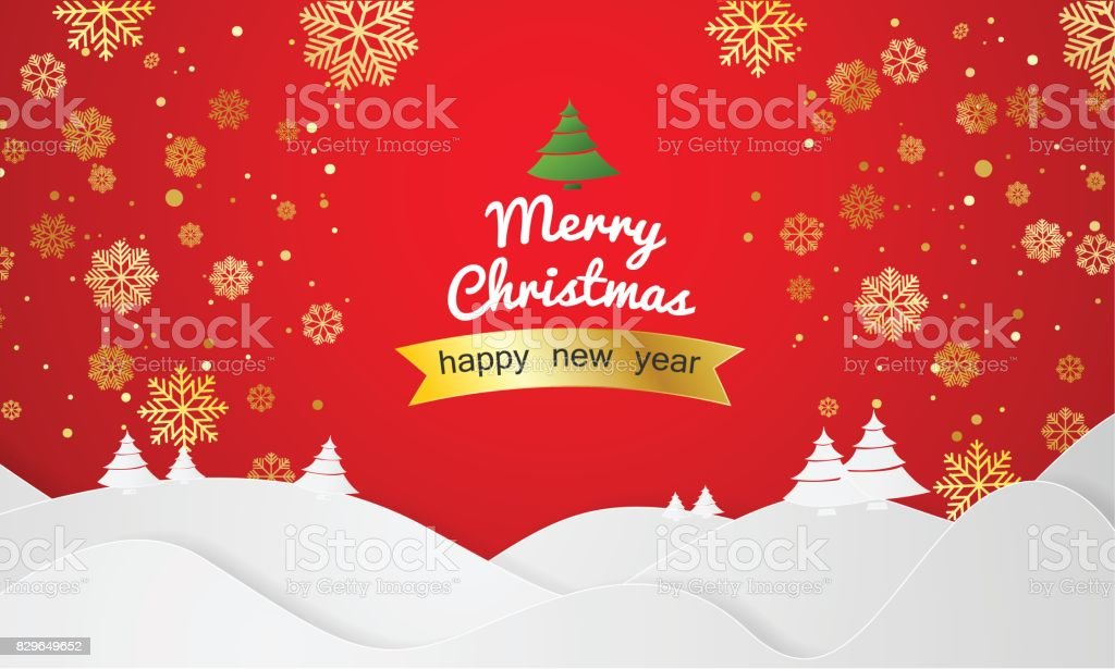 Christmas Vector greeting card and background, Merry Christmas and...