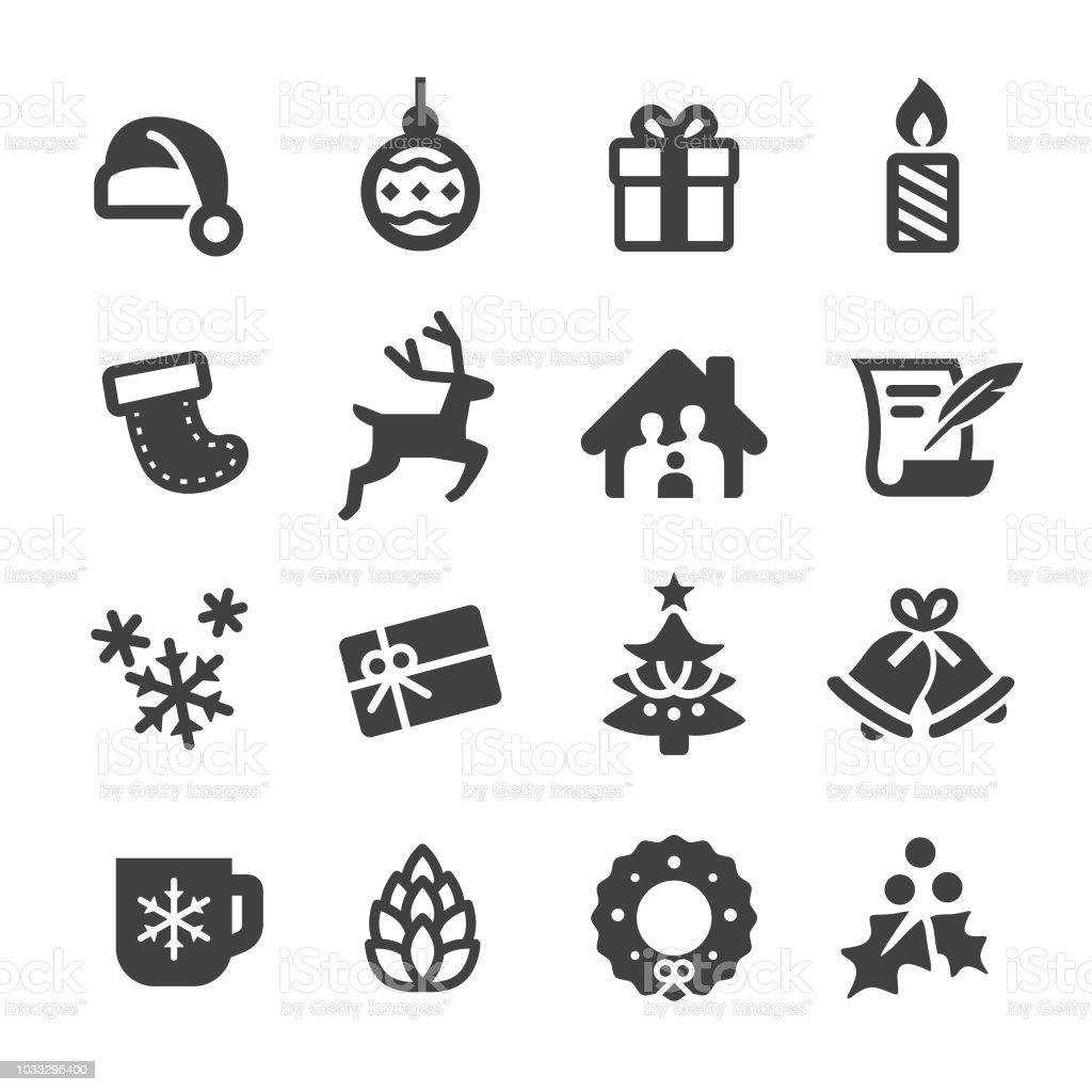 Icone vettoriali di Natale - Serie Acme - arte vettoriale royalty-free di A forma di stella