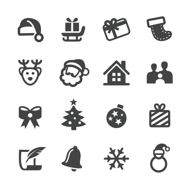 Christmas Vector Icons Christmas, Holiday, christmas icons stock illustrations