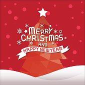 christmas vector illustration , christma tree