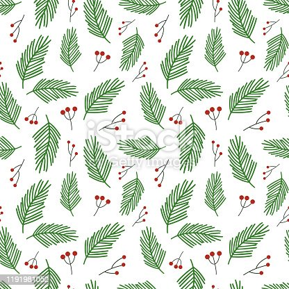istock Christmas vector pattern 1191981052