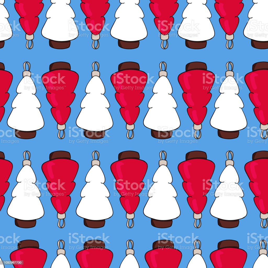 Christmas Scrapbook Paper.Christmas Vector Seamless Pattern Perfect For Wrapping Paper Scrapbook Paper Stock Illustration Download Image Now