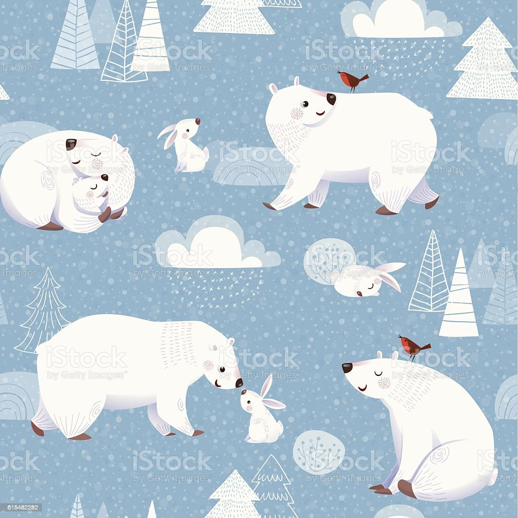 Christmas vector seamless pattern vector art illustration