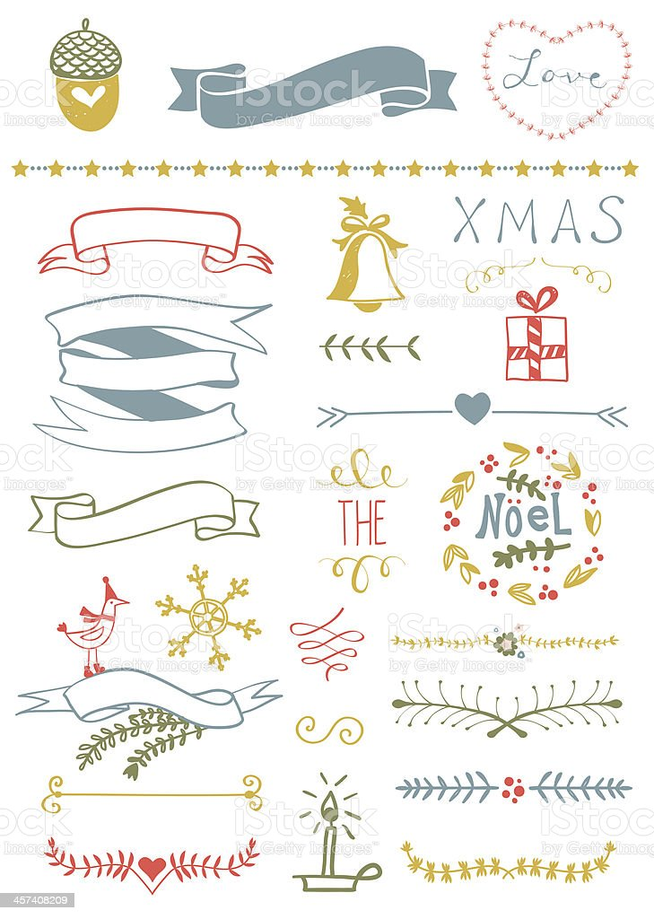 Christmas Vector Set royalty-free stock vector art