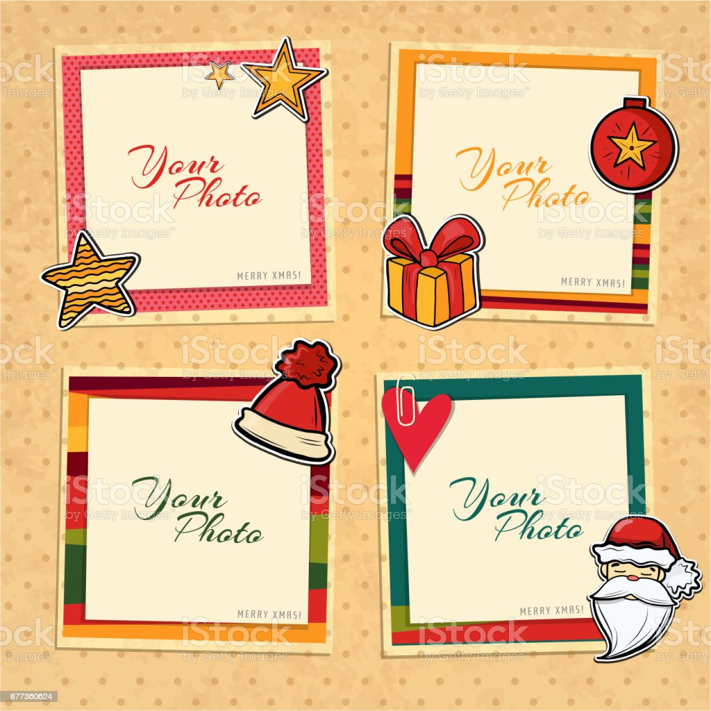 Christmas vector template frame vector art illustration