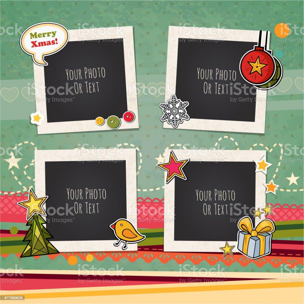 Weihnachten Vektor Vorlage Rahmen Stock Vektor Art und mehr Bilder ...