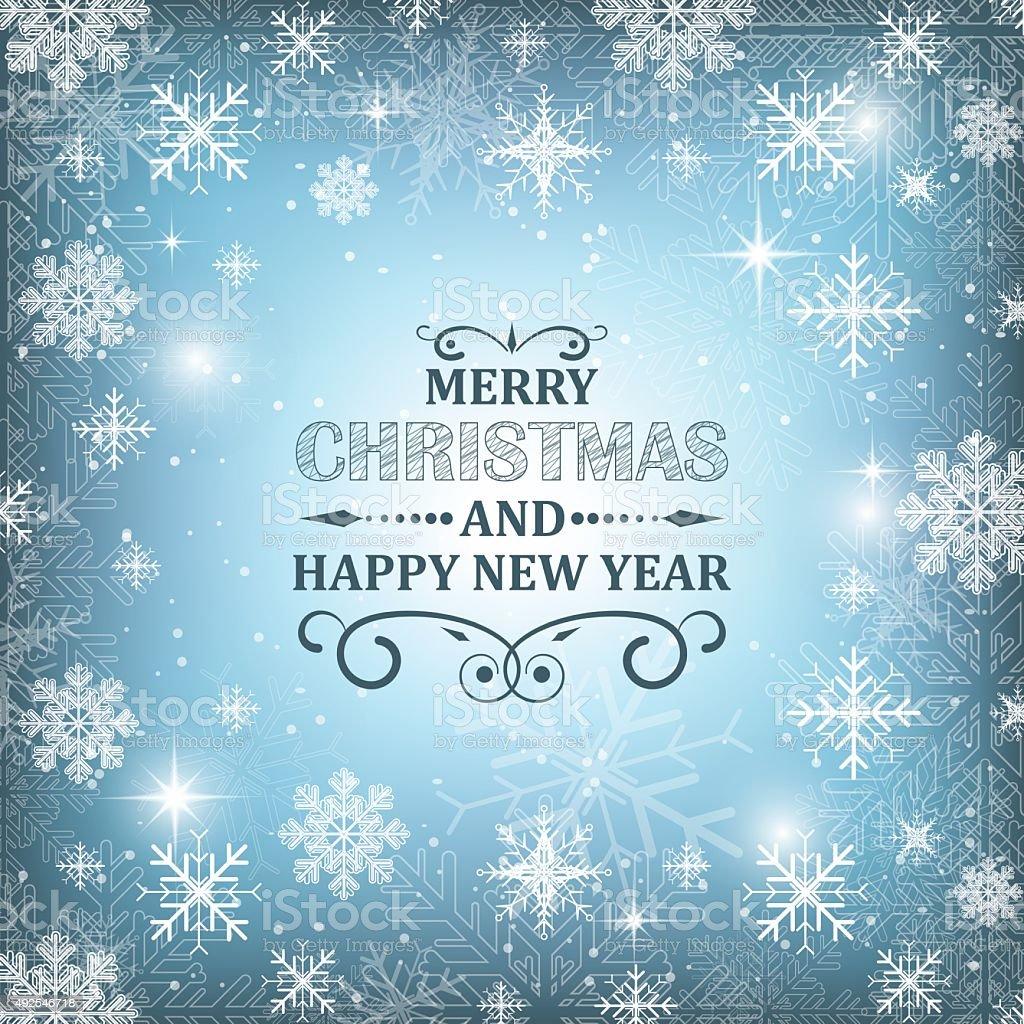 Christmas Vector Wallpaper Background Illuminated Snowflakes Snowfall Glitter And Stars Royalty