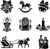 istock Christmas Victorian icons 165040313