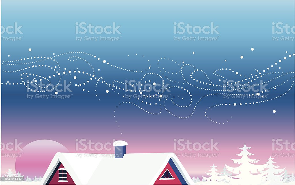 Christmas view vector art illustration