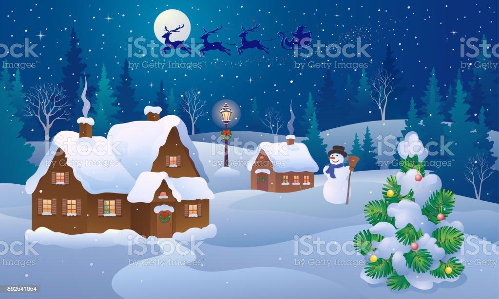 Winter Scenery Clip Art