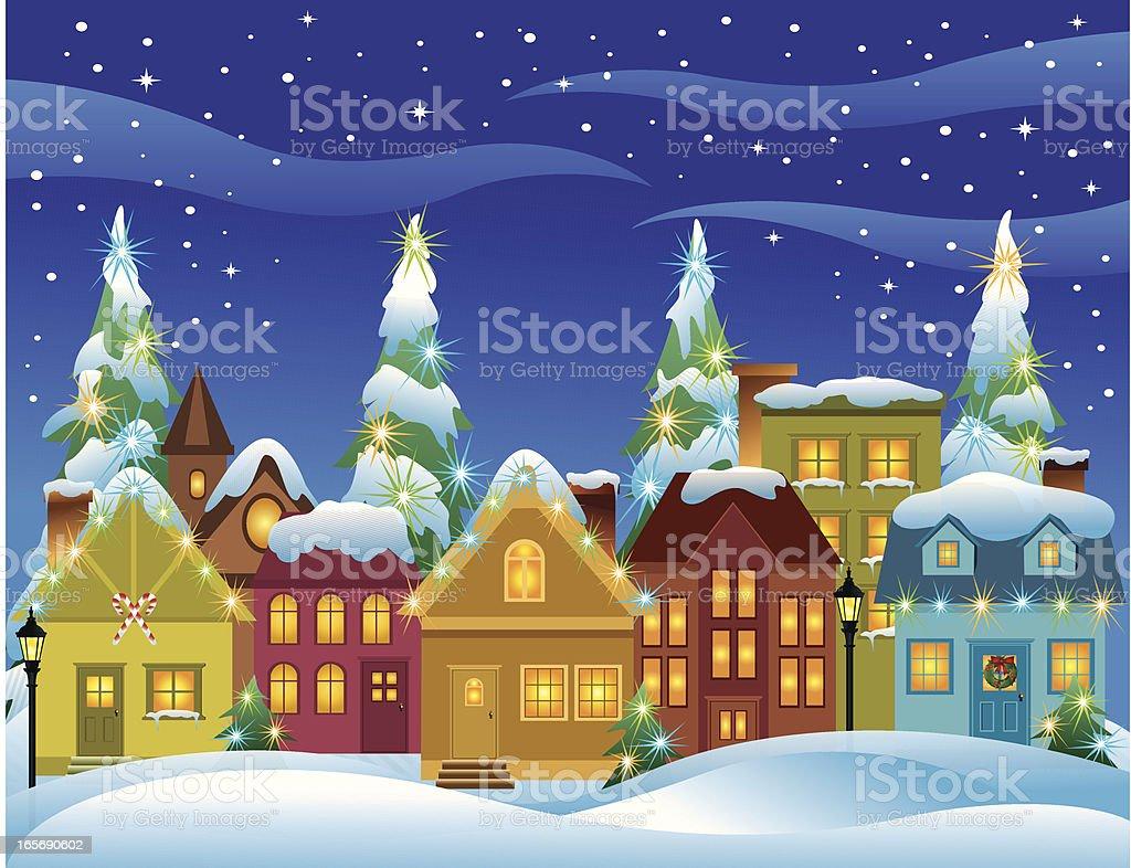 Christmas Village royalty-free stock vector art