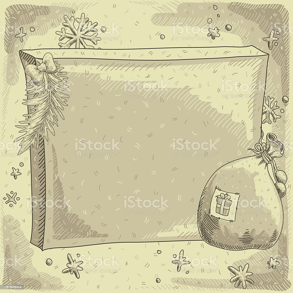 Christmas vintage background royalty-free stock vector art
