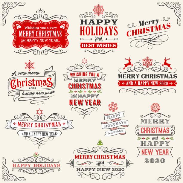 クリスマスヴィンテージバッジストックイラスト - クリスマス点のイラスト素材/クリップアート素材/マンガ素材/アイコン素材