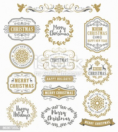 Vector illustration of the Christmas greeting.