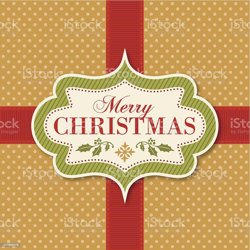 Christmas Vintage Frame royalty-free stock vector art