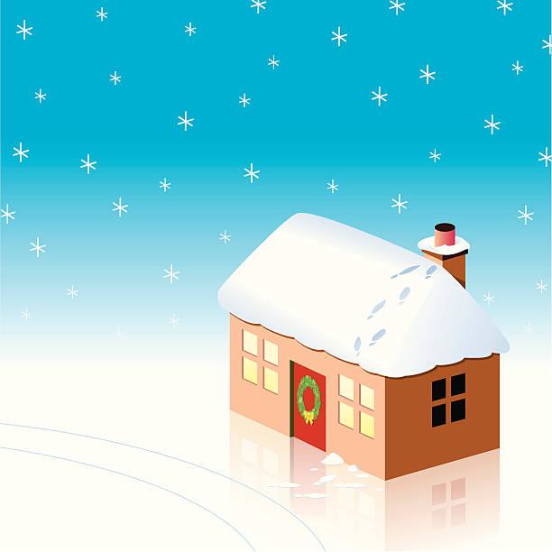 Christmas visitor vector art illustration
