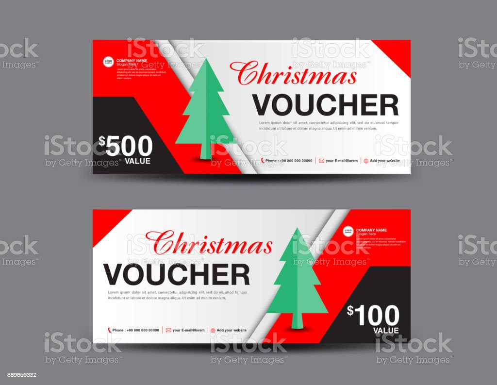 Christmas Voucher Template Layout, Business Flyer Design, Coupon, Ticket,  Discount Card,  Coupon Flyer Template
