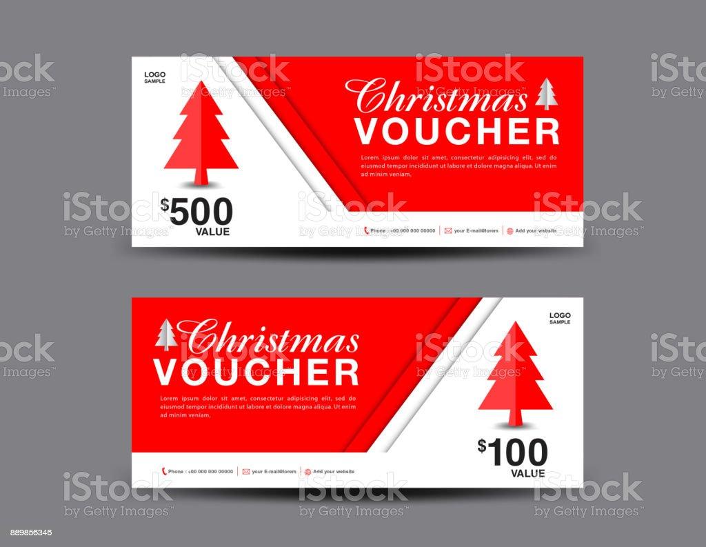 christmas voucher template layout business flyer design coupon