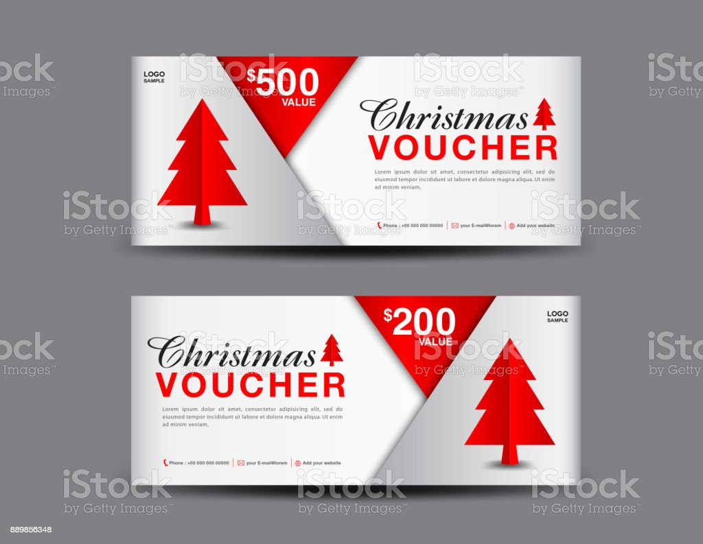 Christmas Voucher Template Layout Business Flyer Design Coupon ...