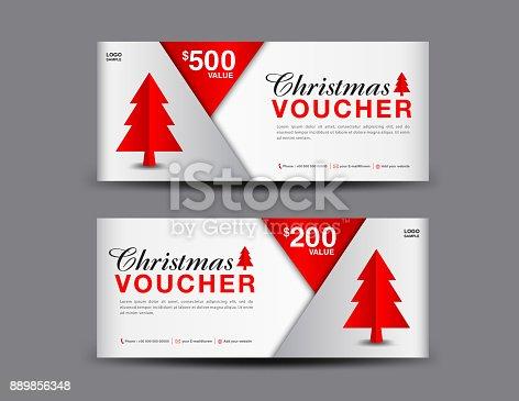Christmas Voucher Template Layout Business Flyer Design Coupon ...