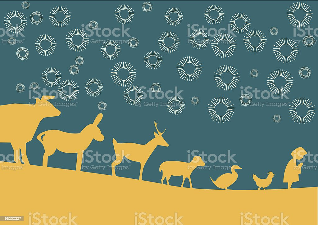 christmas walking royalty-free christmas walking stock vector art & more images of animal