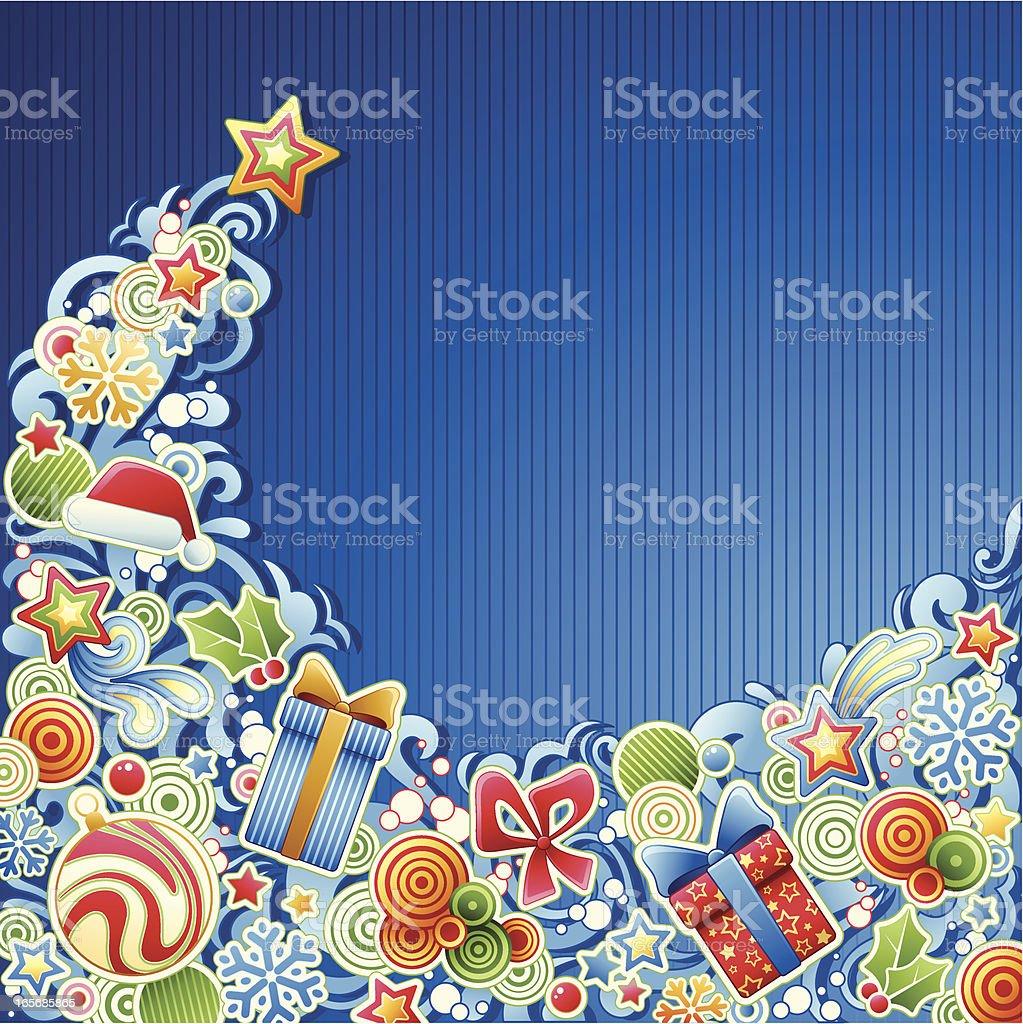 Christmas Wave royalty-free stock vector art