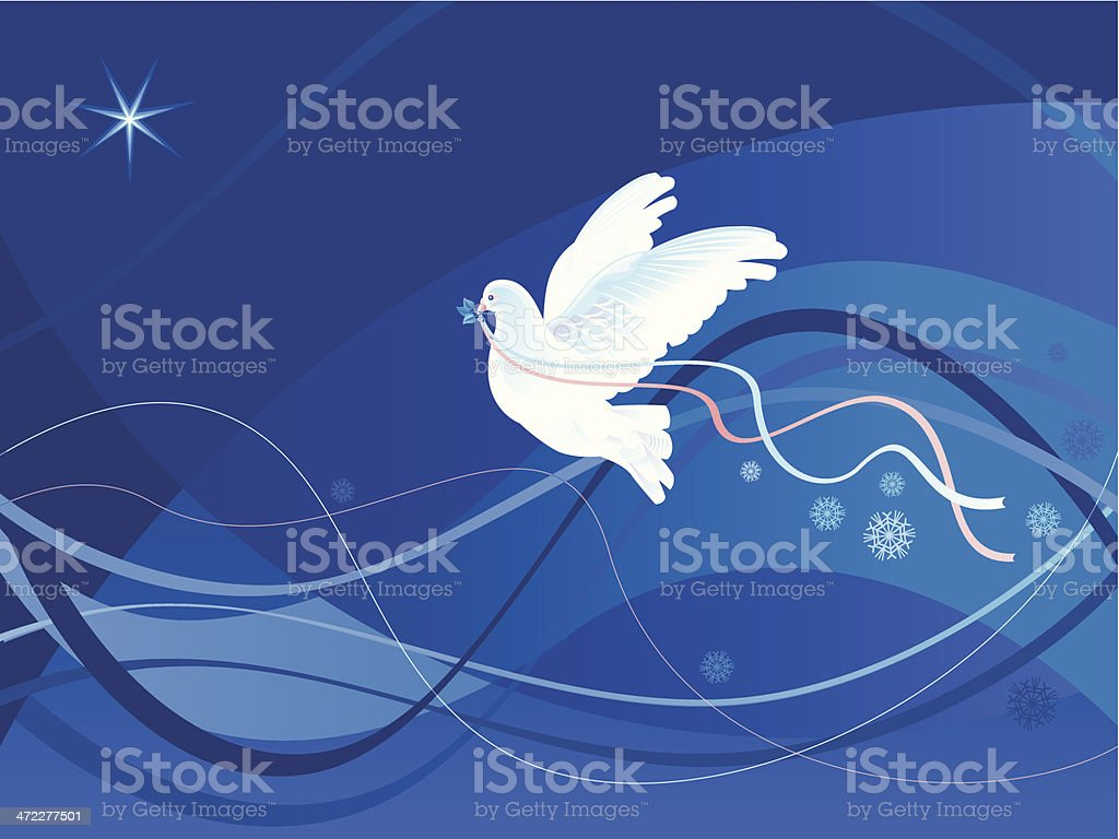Christmas Dove royalty-free stock vector art