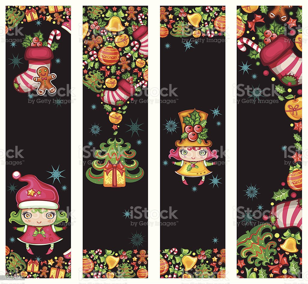 Christmas whimsical banners royalty-free christmas whimsical banners stock vector art & more images of apple - fruit