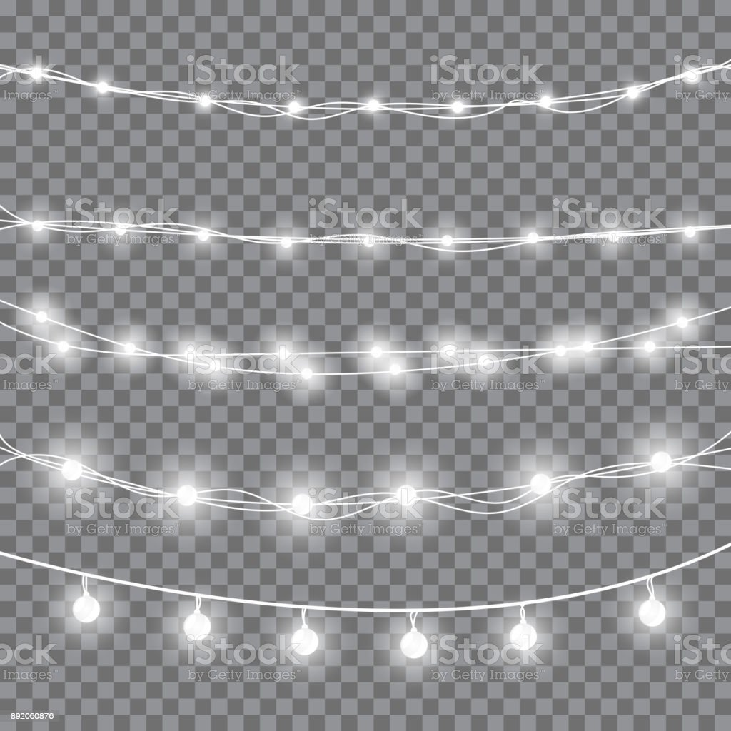 Christmas white lights royalty-free christmas white lights stock illustration - download image now