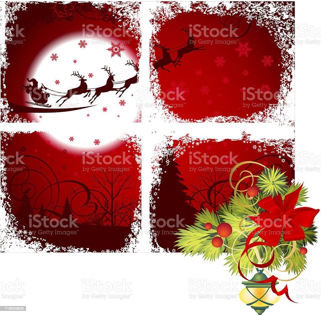 Christmas window. royalty-free stock vector art