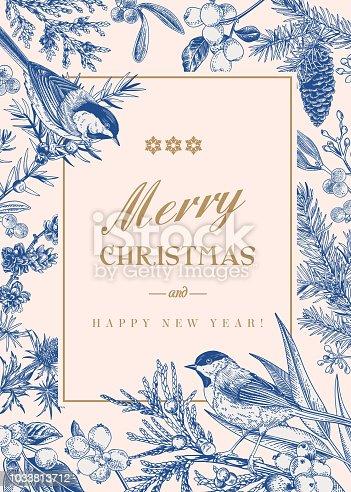 istock Christmas winter background. 1033813712