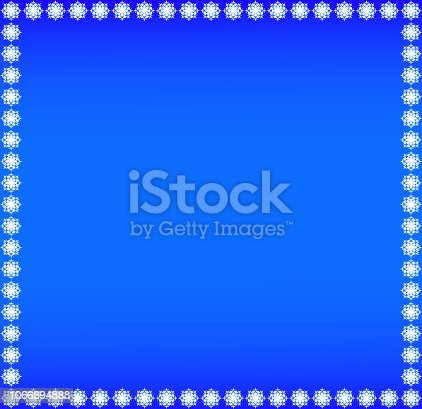istock Christmas, Winter Blue Color Background With Snowflakes Frame 1066894888